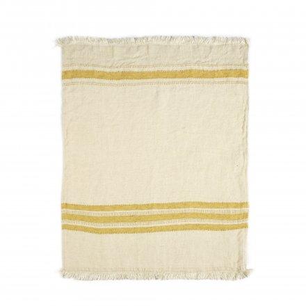 The Belgian Towel Fouta Mustard stripe 110x180cm