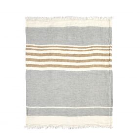 The Belgian Towel Fouta Ash stripe 110x180cm