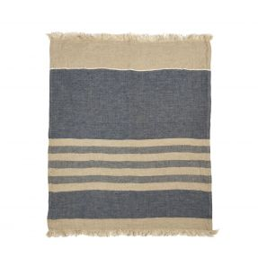 The Belgian Towel Fouta Sea stripe 43x71""