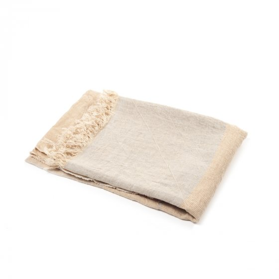 The Belgian Towel Fouta Camel stripe 110x180cm