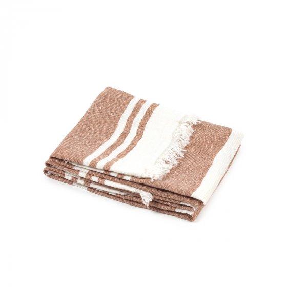 "The Belgian Towel Guest towel Desert stripe 21.5x25.5"""
