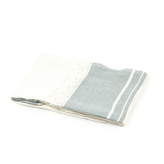 The Belgian Towel Fouta Sage stripe 110x180cm