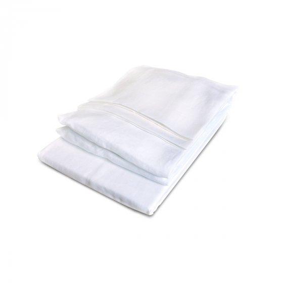 California Sheet set King white : 1 flat + 1 fitted sheet