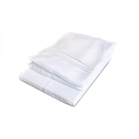 California Sheet set Twin white :  1 flat + 1 fitted sheet