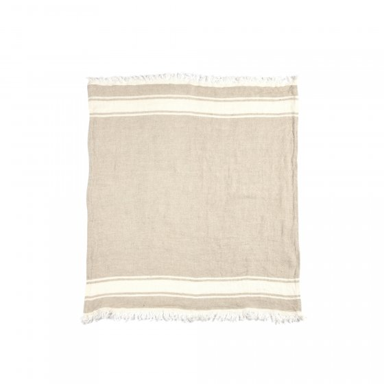 The Belgian Towel Fouta Flax stripe 110x180cm