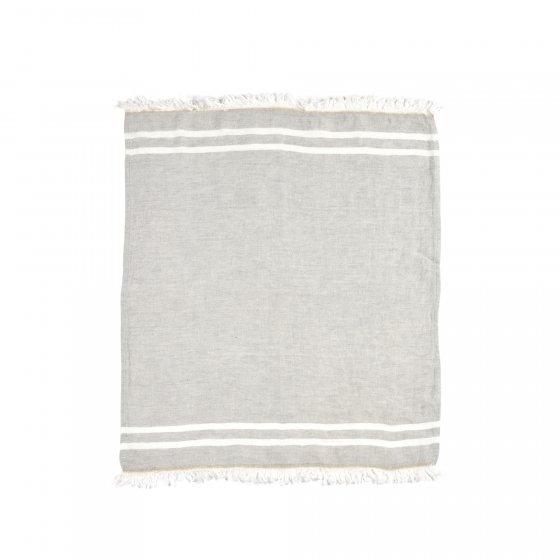 "The Belgian Towel Fouta Gray stripe 43x71"""