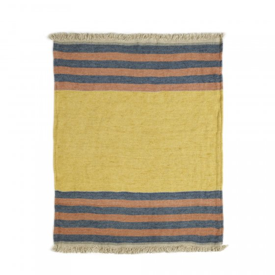 The Belgian Towel Fouta Red Earth stripe 110x180cm