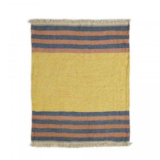 The Belgian Towel Fouta Red Earth stripe 110x180cm