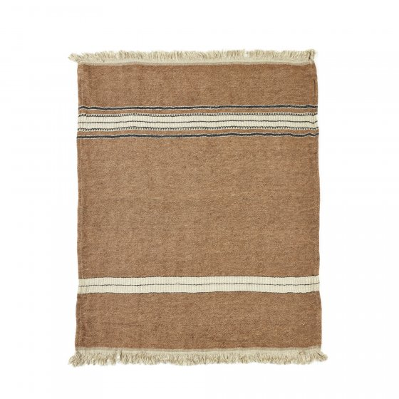 The Belgian Towel Fouta Bruges stripe 43x71""