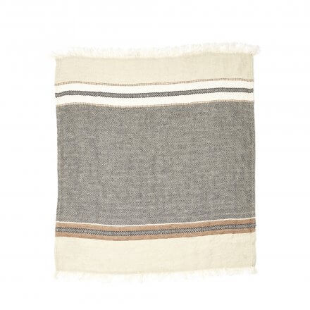 "The Belgian Towel Fouta Beeswax stripe 43x71"""
