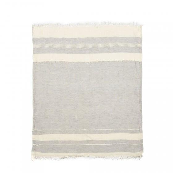 The Belgian Towel Fouta Gent stripe 110x180cm