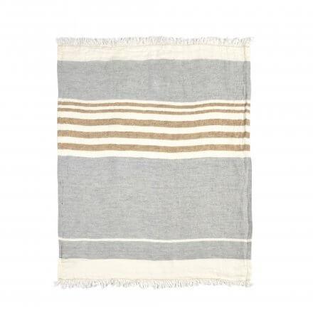 The Belgian Towel Fouta Ash stripe 110x180cm