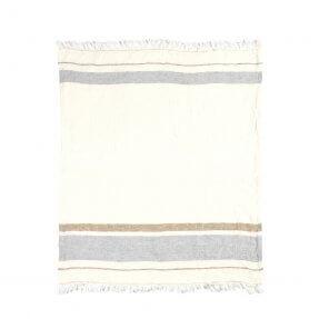 "The Belgian Towel Fouta Oyster stripe 43x71"""