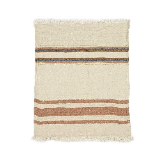 The Belgian Towel Fouta Harlan stripe 110x180cm