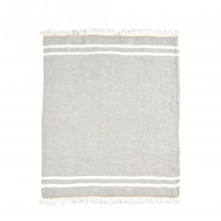 The Belgian Towel Fouta Gray stripe 110x180cm