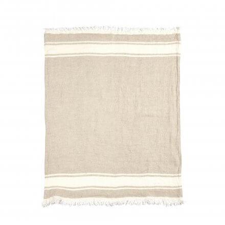 The Belgian Towel Fouta Flax stripe 110x180cm