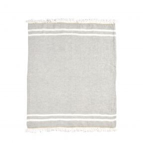 The Belgian Towel Fouta Gray stripe 110x180cm